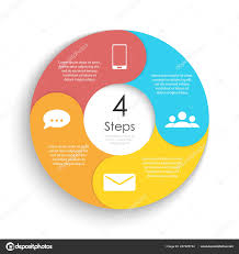 Circle Website Design Vector Circle Chart Infographic Template Cycle Diagram Graph