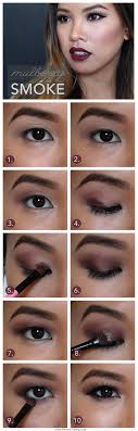 beauty vanity mulberry smoke dark lips and berry lids makeup tutorial for asian eyes