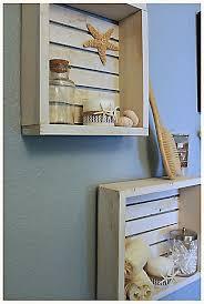 shabby chic beach crate wall shelf by