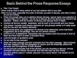 essay writing basics prose response essays ppt video online  basic behind the prose response essays