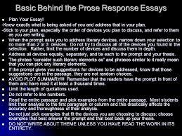 essay writing basics prose response essays ppt video online  basic behind the prose response essays