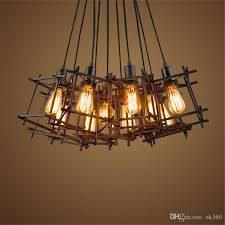 american loft vintage pendant light personality wrought iron lights edison bulb nordic lamp industrial cage lamp lighting fixtures canada 2019 from ok360