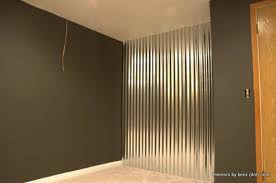 Small Picture How To Install A Corrugated Metal Accent Wall Interiors by Kenz