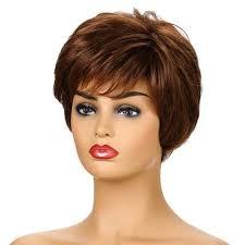 wig female short curly hair beauty