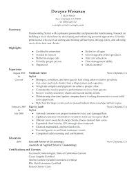 Salon Assistant Resume Sample Best of Resume For Hairstylist Resume Hair Stylist Objective Salon Assistant