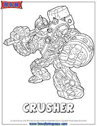 Small Picture Skylanders Giants Crusher Coloring Page H M Coloring Pages