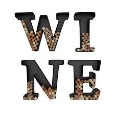 wine letter cork holder art wall d cor metal all 4 letters w i n e gifts on wall art letters with amazon wine letter cork holder art wall d cor metal all 4