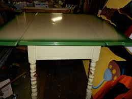 Antique Metal Kitchen Table Vintage Retro Metal Top Green Kitchen Table With Fold Out Leafs
