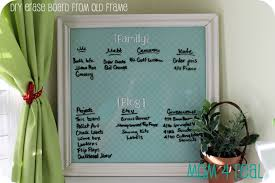 dry erase board from old picture frame