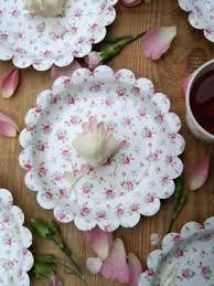 Pink Flower Paper Plates Vintage Floral Paper Plates Vintage Floral Tea Party Paper Plates In