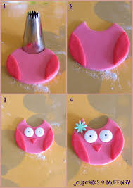 Cupcakes Or Muffins Tutorial Fondant Owl I Feel Owly Today