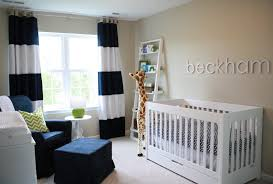 Striped Bedroom Curtains Chair Corner Beside Striped Curtain Cute Nursery Ideas For Small