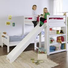 bunk bed with slide and desk. Contemporary Bed Kidz Beds Beni L Bunk Bed With Slide White Jellybean Ireland And Desk  Bunks Full Size I