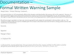 Warning Letter For Staff Employee First Template 9