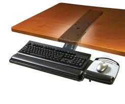 keyboard tray under desk ikea 3m akt180le sit stand under desk easy adjust keyboard tray 77