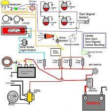 harley davidson shovelhead wiring diagram motorcycle pinterest harley wiring diagram for dummies afbeeldingsresultaat voor honda cb360 simple wiring diagram