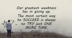 Keep Trying Till You Succeed Quotes Magnificent Trying Quotes