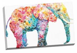 decor colorful elephant painting on canvas for artwork ideas with have to do with
