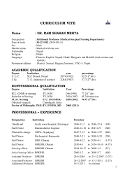 Unusual Indian Doctor Resume Sample Pictures Inspiration