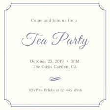 invitation party templates template for a party invitation tea party invitation templates canva
