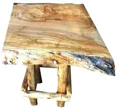 tree trunk end table tree stump end table wood stump end table cedar stump table tree