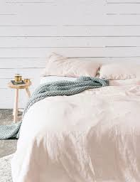 washed linen duvet from nest