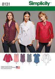 Simplicity Blouse Patterns Inspiration Simplicity Simplicity Pattern 48 Misses' Bow Blouses With Sleeve