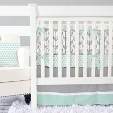 image of gray crib bedding sets for girls