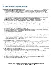 Ideas Collection Sample Resume Accomplishment Statements On Example
