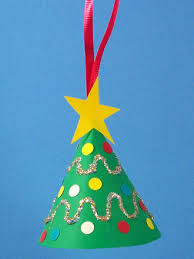 Construction Paper Christmas Tree OrnamentChristmas Tree Ornaments Crafts