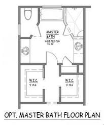 Interesting Master Bathroom Floor Plans 10x10 Like This Bath Layout No Wasted Space Inside Models Design