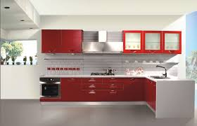 Red Kitchen Cupboard Doors Kitchen Inspiring Red Kitchen Design Presented With Red Wood