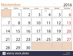 November Through November Calendars November Month In A Year 2016 Calendar In Spanish Noviembre 2016