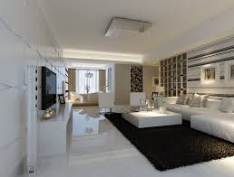 Modern White Marble Flooring For Living Room With Black Carpet And And Also  Beautiful Black Carpet