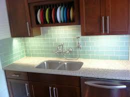 image of best colored subway tile kitchen backsplash
