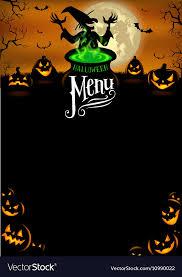 Halloween Template Halloween Menu Template Royalty Free Vector Image