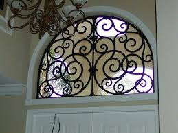 faux wrought iron arched window insert by via inserts diy