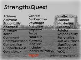 page peer into your career what does the input strength look like to me since taking the strengthsquest assessment i have identified a number of things that characterize me as