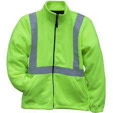 Tri Mountain Hi Vis Reflective Fleece Jacket