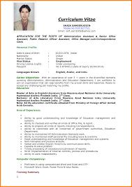 Resume Example For Job Resume Job Sample Targergolden Dragonco