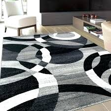 white rugs black and modern grey area rug flower silver circles abstract contemporary boxes b white rugs