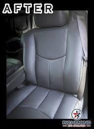 2003 2006 gmc yukon yukon xl denali leather seat cover driver side complete set 2 tone tan