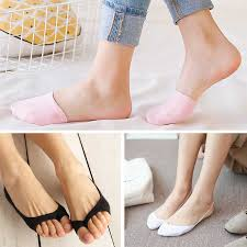 <b>5Colors</b> Cotton Comfortable <b>Half</b> Toe Cover Socks Slippers for ...