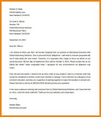5 Example Of Resignation Letter 2 Weeks Notice Inta Cf