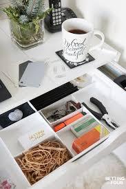 desk organization tip use premade desk drawer organizers i picked up this ikea kuggis