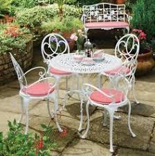 outdoor furniture white. Elegant Classy Cast Aluminum Outdoor Furniture: White And Pink Aluminium Garden Furniture ~ Bidycandy I