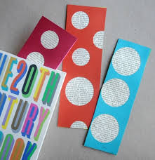 bookmark craft using old book pages artchoo