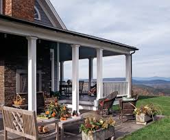 Porch Columns Ideas Porch Traditional with Acres of Land Back
