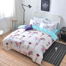 unicorn bedding cotton unicorn bedding twin double size duvet cover set unicorn toddler bedding next