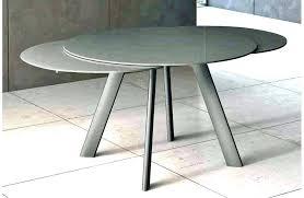 Table Ovale En Verre Avec Pied Central Aclacgant Table De Cuisine